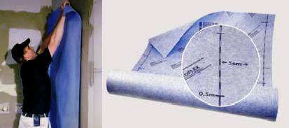 Entkopplungsmatte überlappend Verkleben