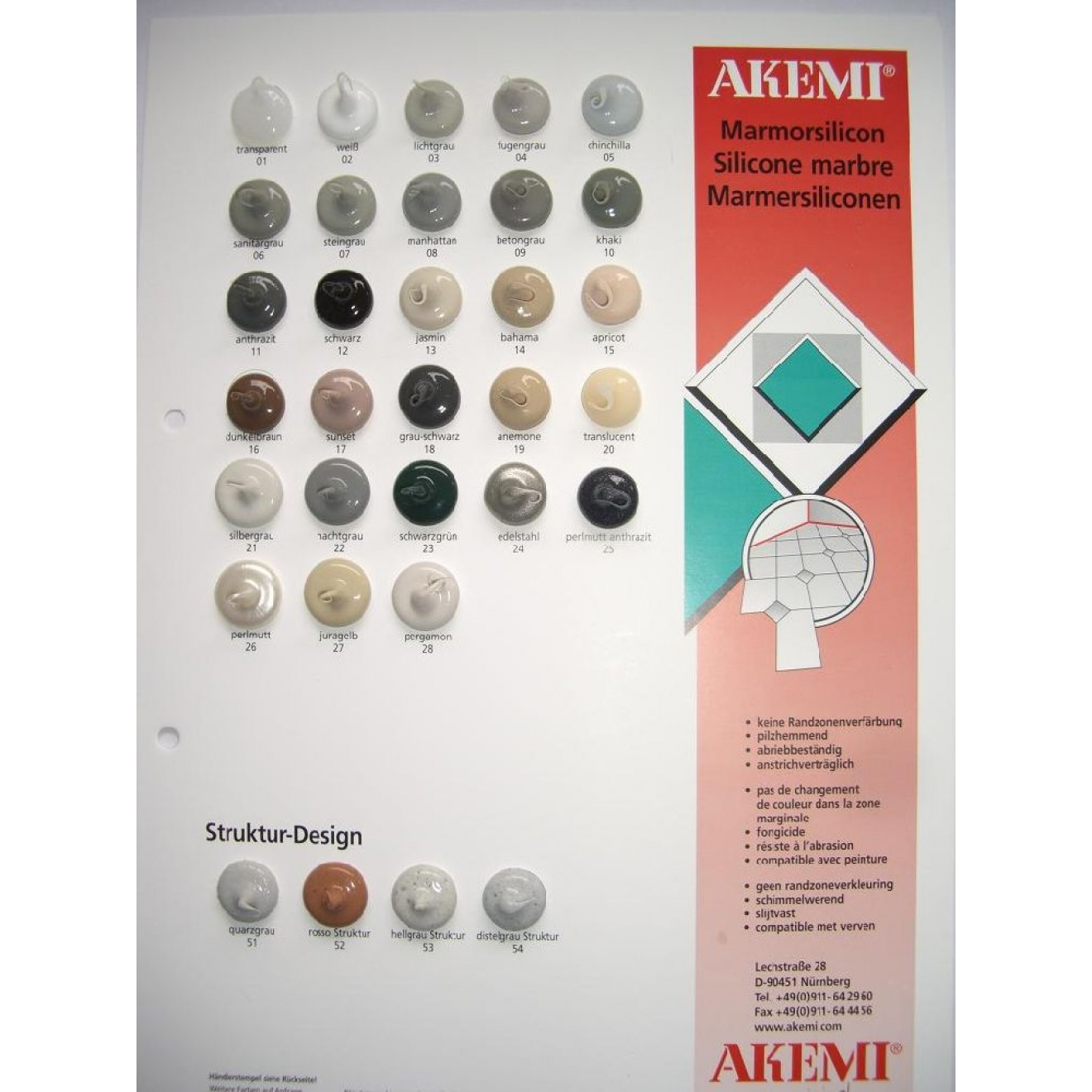 akemi marmorsilikon naturstein silikon zum abdichten von. Black Bedroom Furniture Sets. Home Design Ideas